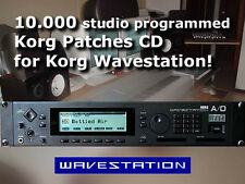 CD 15.000 Korg Wavestation EX A/D AD SR sysex presets sound mcr wsc card banks