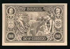 Brazil National Exhibition of 1908 official 50r illustrated stationery PPC