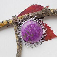 Kupfer Türkis, lila marmoriert, Anhänger, Silber plattiert