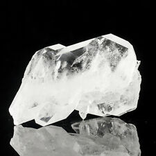 "4.7"" SeeThru FADEN QUARTZ DblTerminated Crystals w/White Lines Pakistan for sale"