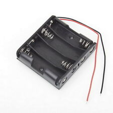 Battery Box Slot Holder Case for 4 Packs Standard AA 2A Batteries Stack 6V FE