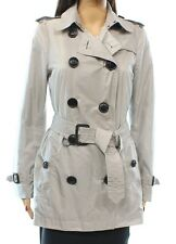Burberry Brit NEW Light  Grey Women's Size 6 Packable Trench  $795 #028 DEAL