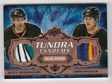 2008-09 Artifacts Tundra Tandems Dual Patch Gold #TT-PN Niedermyer, Pronger #/35