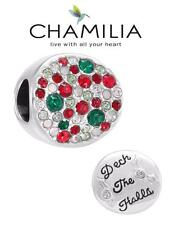 Genuine chamilia & Plata Esterlina 925 Swarovski Deck the Halls encanto grano