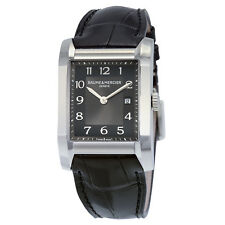 Baume and Mercier Black Dial Leather Strap Mid Size Watch 10019