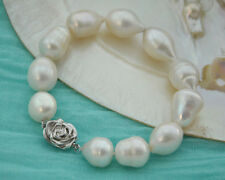 "Attractive 8"" 18mm drip white freshwater pearl bracelet"