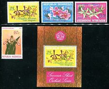 Indonesia 978-980, 978a MNH Flowers, Orchids CV-$67.10 1976 x12234