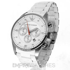 *NEW* MENS EMPORIO ARMANI WHITE RUBBER STEEL WATCH - AR5859 - RRP £299.00