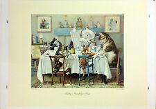 Elija dos Louis Wain impresiones sólo £ 25 incl. P&P - Open Edition impresión Gatos Prin