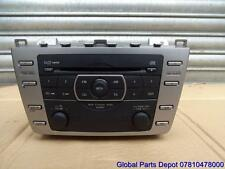 2010 MAZDA 6 CD PLAYER IN DASH 6 DISC CHANGER & RADIO GENUINE GS1E669RXC