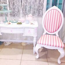 Chair Pink Shabby Chic Style Alice, Living Room, Polyester, wood & fabric