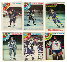 1978-79 OPC NHL Hockey Lot - Pick only the cards you need - 2 for $1