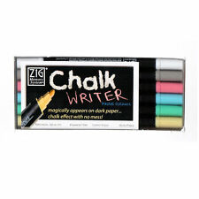Kuretake Zig Writer Chalk Pastel Marker Pens (6pc Set)