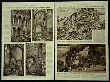 Fountains Abbey Proposed Restoration Then & Now 1946 2 Page Illustrated Article