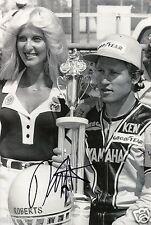 """Kenny Roberts Yamaha Signed Photo 12x8 Superbikes World Champion 12x8"""" AB"""