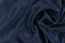 PAIR Luxury 100% Charmeuse SILK Pillowcases Housewife (Midnight Blue)