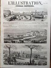L' ILLUSTRATION 1854 N 584 REVUE PASSEE A TOULON par LE MARECHAL DE SAINT-ARNAUD