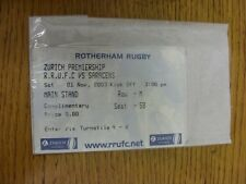 01/11/2003 Ticket: Rugby Union, Rotherham v Saracens  . Thanks for viewing our i