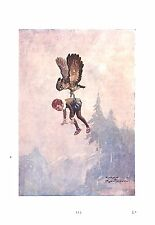 Owl.Child.Bird print.1936.Aesop's fables.Harry Rountree.Merchant and his friend