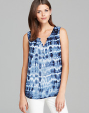 VELVET By Graham & Spencer Momo Sleeveless Tie Dye Tank Top Blouse Blue S $99