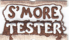 """S'MORE TESTER"" - Iron On Embroidered Patch /Cooking, Food, Baking, Treats"