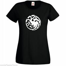game of thrones targ dragon lady fit black XL t-shirt cotton womans top XL