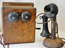 ANTIQUE C1900 MONARCH CRANK PHONE Lot 280
