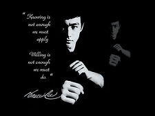 Australian A1 SIZE  BRUCE LEE  kung fu quote  film poster art print movie
