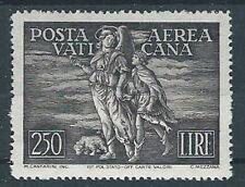 1948 VATICANO POSTA AEREA TOBIA 250 LIRE MH * - RR13351