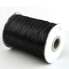 20M Bulk Black Wax Nylon String Cord Thread 2MM For Bead Craft Bracelet Jewelry