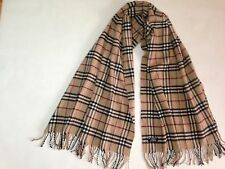 large Burberry Nova Check Scarf 100% Cashmere
