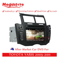 """6.2"""" Car DVD GPS Navigation For TOYOTA YARIS 2005-2011 Quad Core Android 5.1"""