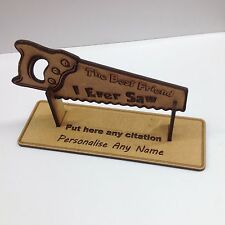 Personalised 'Best Friend I Ever Saw' Engraved Wooden Craft Birthday Gift MDF