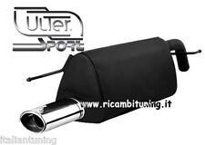 FIAT Punto Evo 1.2 - 1.4 Scarico Sportivo Omologato Marmitta uscita 95x65 mm