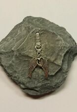 Angel Wings & Heart Dangle Charm For Mobile Phone. Tablet. Iphone. Dust Plug.