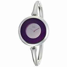 NEW CK CALVIN KLEIN K1C24556 SWISS MADE WOMEN'S STEEL WATCH SING PURPLE