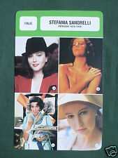 STEFANIA SANDRELLI- MOVIE STAR - FILM TRADE CARD - FRENCH -#2