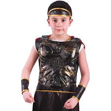 Cuirasse en plastique de romain avec l'aigle et la louve taille enfant costume