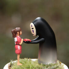 2pc spirited away Girl Ghost Men Figure Fairy Garden Accessories, Miniature Deco