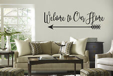 Welcome to Our Home Vinyl Wall Quote Decal Words Lettering Design Sticker LOOK