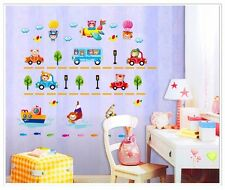 Boats cars planes roads balloons wall sticker decal removable boys room nursery
