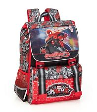 Spider-Man Expandable Backpack Rucksack Ergonomic Travel School Kids Marvel Bag