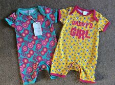 2x Mini Club (Boots) baby girl rompers - 0-3 months 1 'Daddy's Girl' BRAND NEW