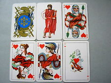 PLAYING CARDS VINTAGE WHITE RUSSIAN USSR CCCP NON STANDARD COURTS 52+2J+2BLANK
