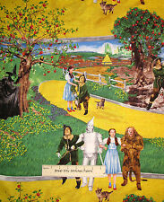 The Wizard Of Oz Yellow Brick Road Dorothy Scarecrow Tin Man Cotton Fabric Yard