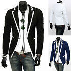Young Stylish Men's Casual Slim fit One Button Blazer Coat Jackets Wedding Suit
