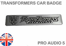 Transformers armada badge en aluminium brossé Universel Voiture Fourgon badge-UK