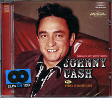 SONGS OF OUR SOIL + HYMNS BY JOHNNY CASH - DOUBLE ALBUM CD *NEW & SEALED*