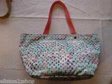 Fossil ZB5758403 Keyper EW Tote Blue Multi purse shopper beach bag NWT 98.*^