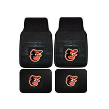 New MLB Baltimore Orioles Car Truck Front Rear Rubber Heavy duty Floor Mats